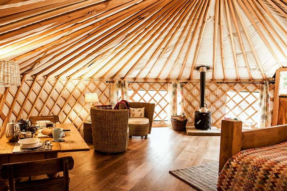 The Rowan Yurt - 21 Unusual Places To Stay in Yorkshire