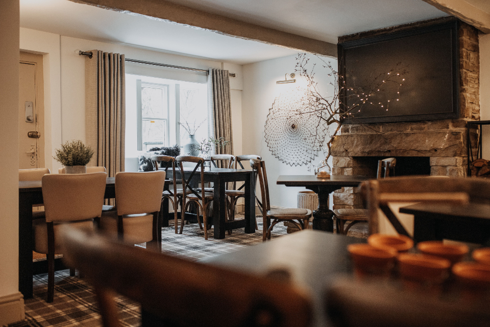 Woodman Inn Thunderbridge cosy pub