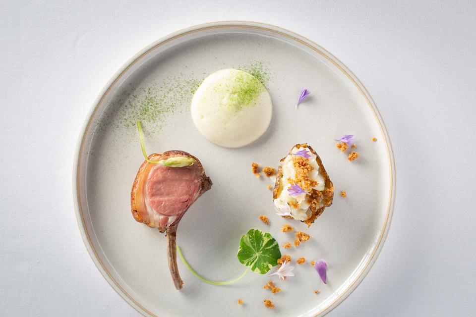 Lamb dish by Shaun Rankin at Grantley Hall