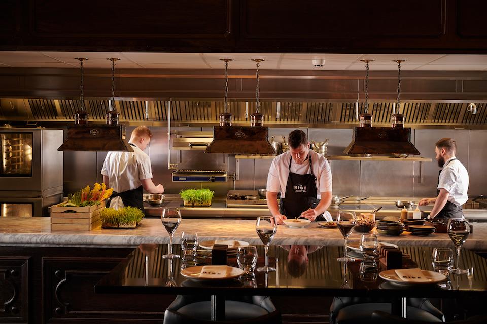 Rise Restaurant York chef live station