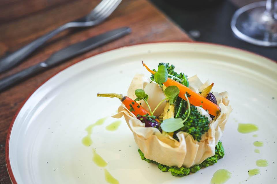 The Rise Restaurant York starter dish