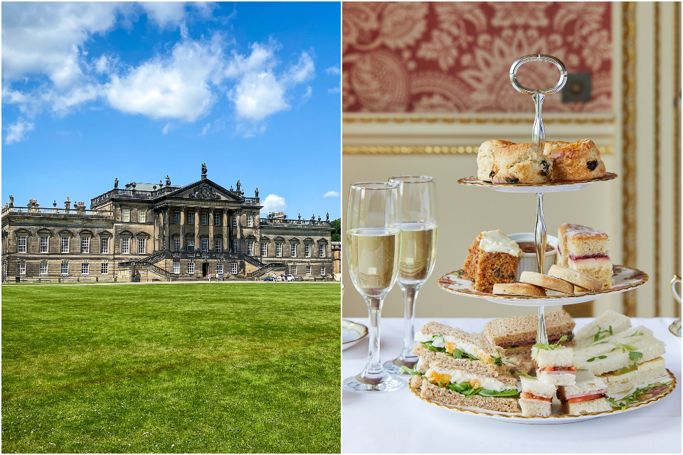 Wentworth Woodhouse afternoon tea long gallery collage