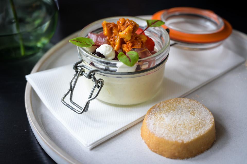 Woodman Inn Thunderbridge pannacotta dessert