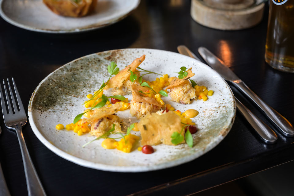 Woodman Inn crab and mango starter