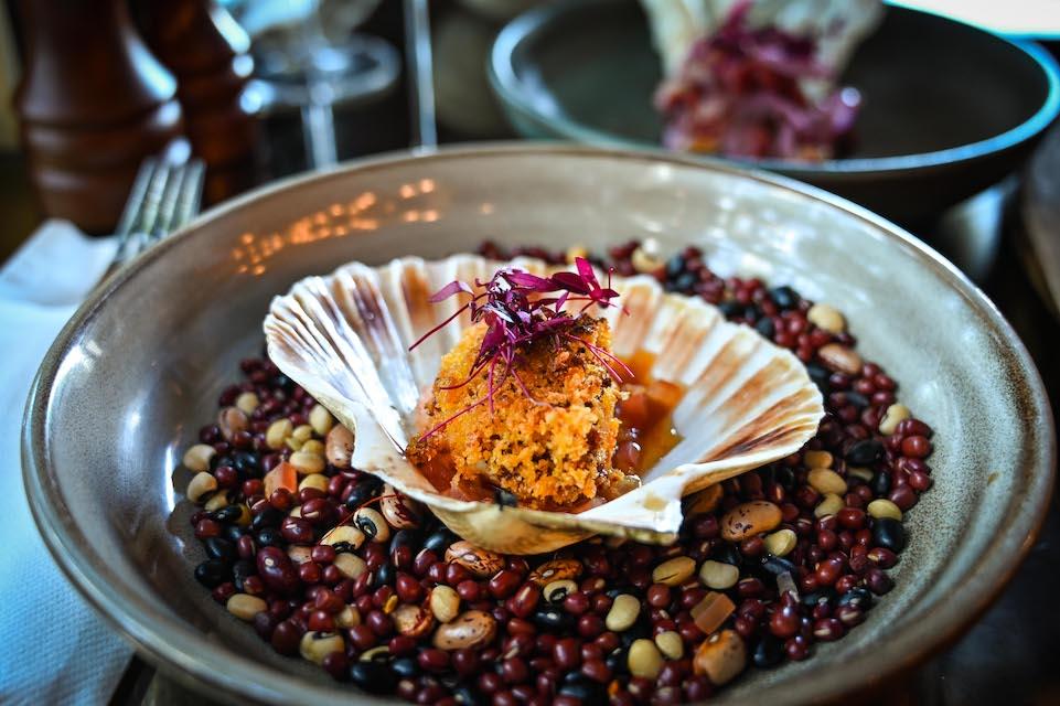 Chophaus Leeds review scallop starter dish