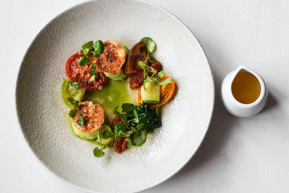 Rattle Owl York voucher - tomato tasting menu dish